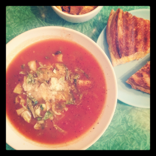 Tomato soup & grilled cheese @ Cafe Molinario, S. Williamsburg BK