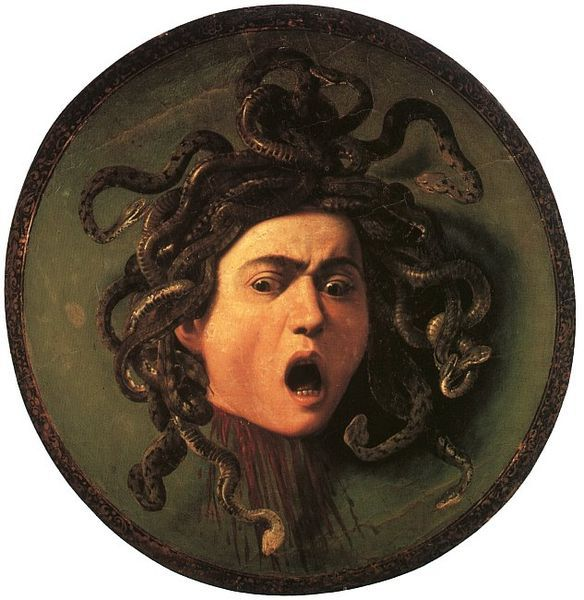 Medusa (1597), oil on canvas, Uffizi Gallery, Florence | artwork by Caravaggio