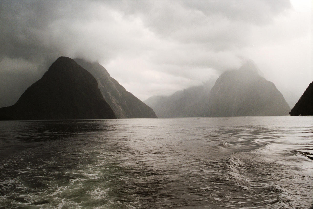 New Zealand South Island west coast Milford Sound fjord  via (c) Matt Bridger