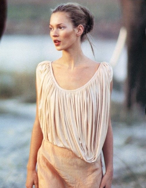 thewakeupcall:  Kate Moss for Vogue Uk March 1994 by Arthur Elgort.