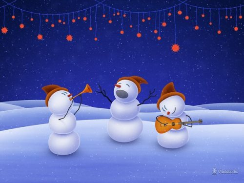 Cool Wallpapers for Christmas and New Year 2012