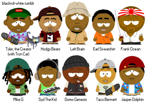 blacknd-white:  South Park X OFWGKTA