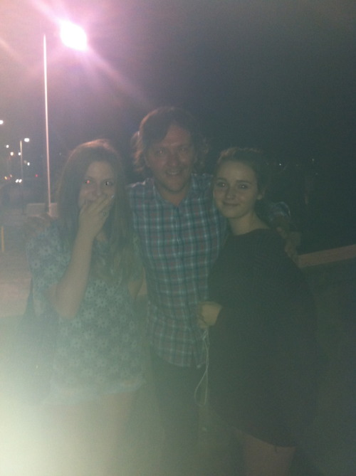 yeaaah met chris lilley last night