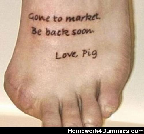 dumbest tattoo…