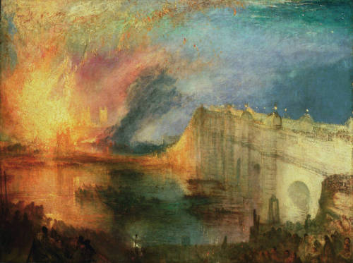 The Burning of the Houses of Lords and Commons, 16th October 1834, 1835  Joseph Mallord William Turner (British, 1775-1851)
