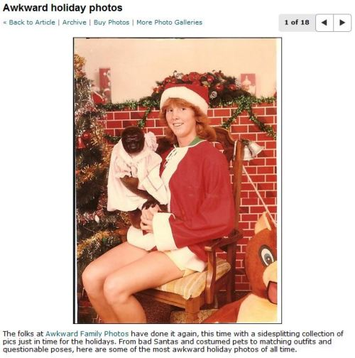 "Awkward Family Photos repurposed into ""news content."" via San Francisco Chronicle"