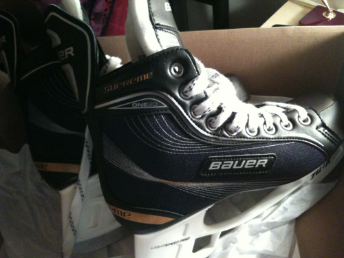 I am the proud new owner of my very own hockey skates. Ready for the winter classic ice