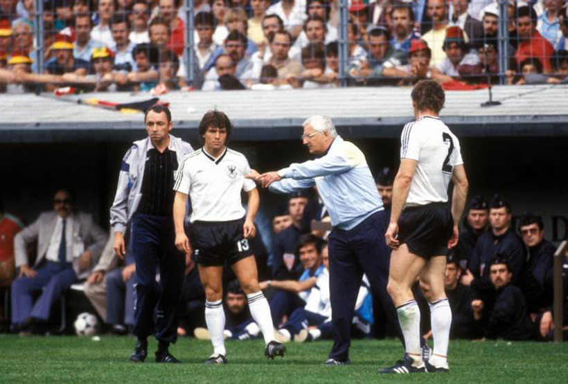 Lothar Matthäus's debut for the German National Team came during the 1980 European Championship.  After leading 3-0 against the Netherlands, coach Jupp Derwall brought on the young midfielder for his only appearance of the tournament.
