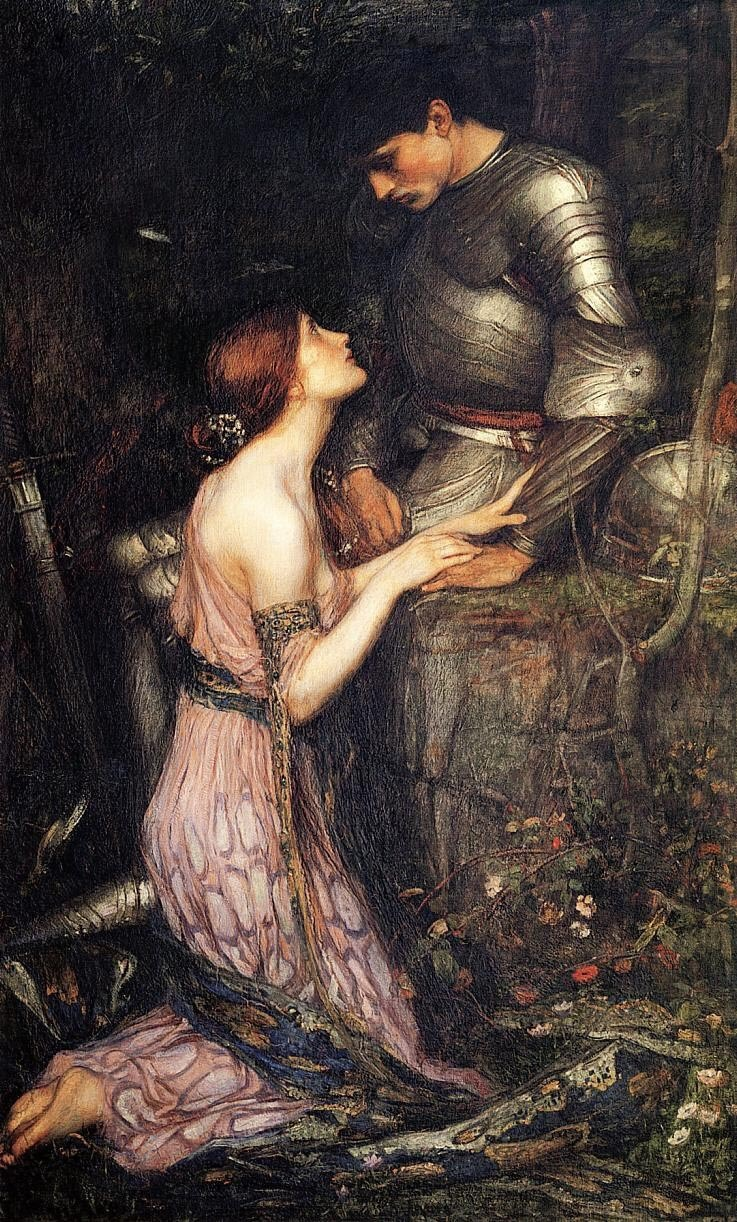 "Waterhouse - Lamia and the Soldier ""Love in a hut, with water and a crust,Is—-Love, forgive us!—-cinders, ashes, dust;Love in a palace is perhaps at lastMore grievous torment than a hermit's fast.""                          - Keats"
