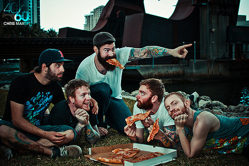 Beards? Tattoos? Pizza? Picnic? This looks like my dream bearthday party.