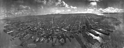 San Francisco in ruins from Lawrence Captive Airship, 1906 (edit 3)