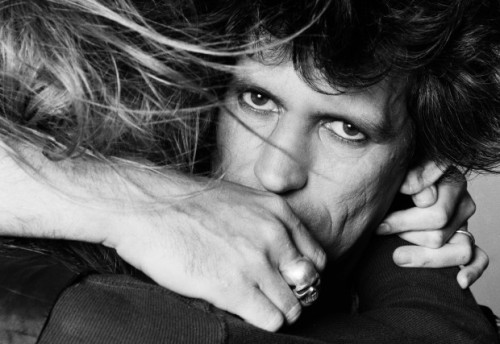 Keith Richards and Patti Hansen, by Lynn Goldsmith, 1981.
