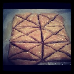 My sister is amazing….homemade baklava!! (Taken with instagram)
