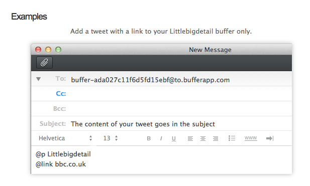 Bufferapp - Uses blanked screenshots with text layers to create personalized guided screenshots. via Basheer Tome