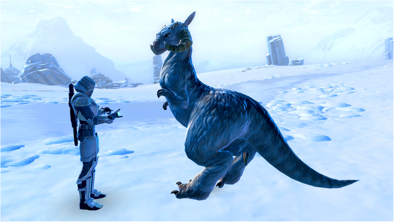 The Trooper and his Tauntaun. Star Wars: The Old Republic JTGP