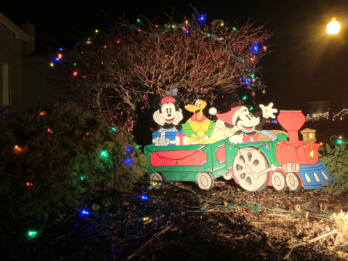 Mickey Christmas decorations!