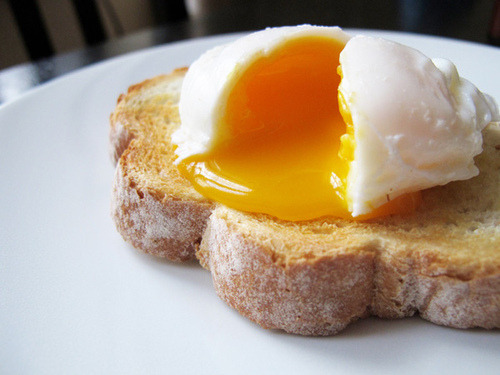 Bread and Egg. Simply perfect breakfast.