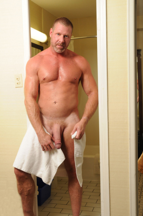 "hairyhornymen:  ""this towels are so small i cant even wrap them around my waste. looks like ill just have to air dry son"""
