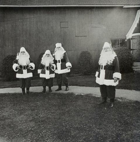 Santas at Santa Claus School, Diane Arbus, 1964