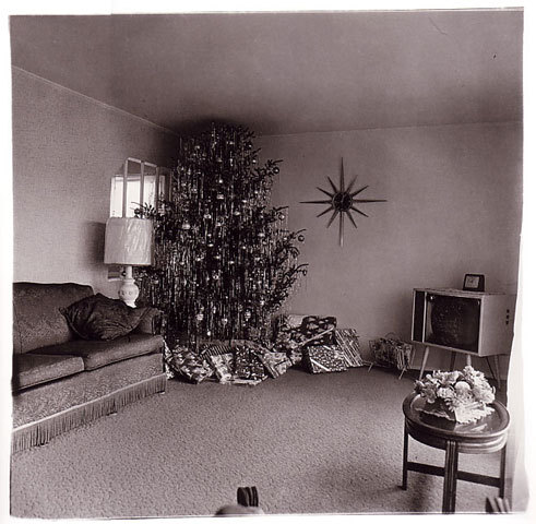 Xmas Tree in a Living Room, Levittown, L. I., 1963  Diane Arbus