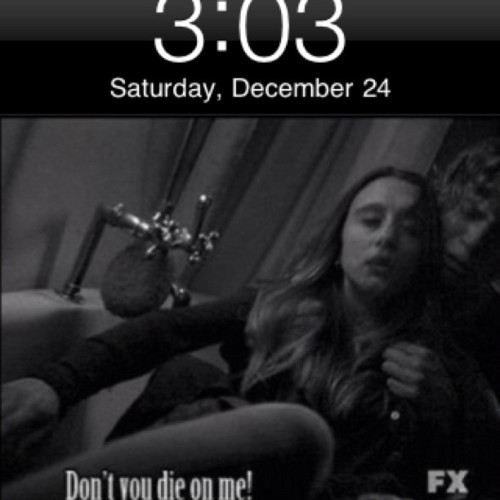 3:03 AM #AM #03 #AHS #AmericanHorrorStory #VioletHarmon #Violet #Harmon #TateLangdon #Tate #Langdon #MurderHouse #Perfection (Taken with instagram)