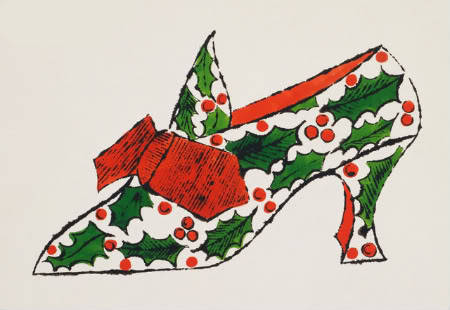 Christmas Shoe Andy Warhol