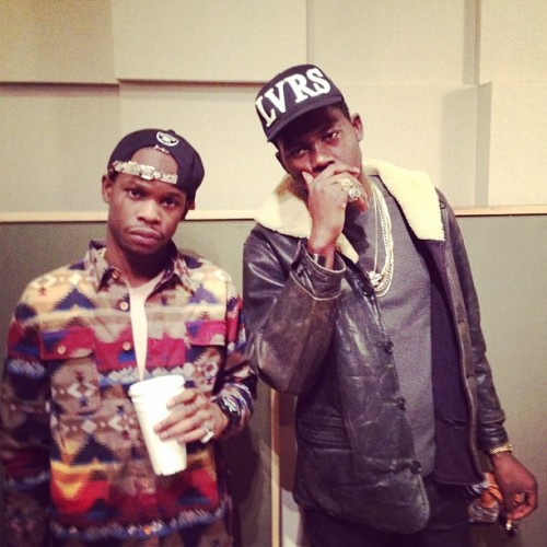 vinnychasenyc:  Vinny Cha$€ x Theophilus London #CHEER$ (Taken with instagram)