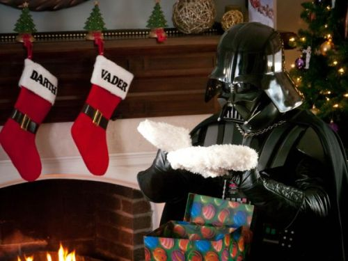 Happy Holidays from Darth Vader! He's disappointed with your gift, by the way.