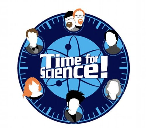 "subrosaecadrillie:  ""Time for Science"" – a shirt that the  artist explains as a ""tribute to the brave few who attempt to educate  the masses of attention-deficit kids out there by being simultaneously  entertaining"". Going clockwise, the list includes Adam and Jamie, Carl Sagan, Michio Kaiku, Beakman, Kari Byron, and Bill Nye.  Ozom.."