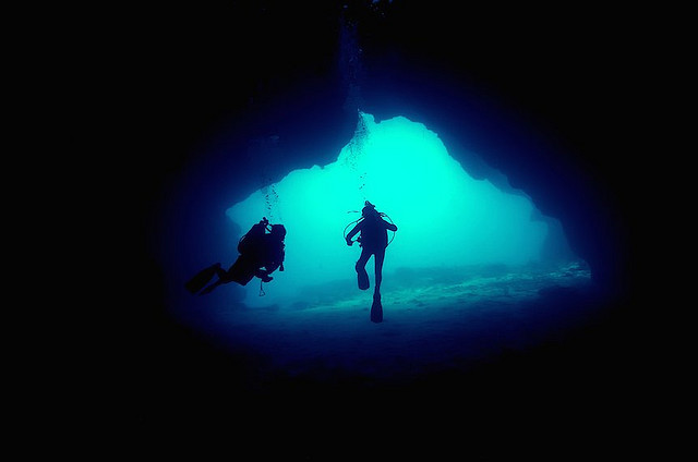 underwater cave by melissa.fiene on Flickr.