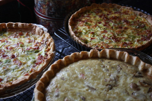 The quiches are ready for brunch.