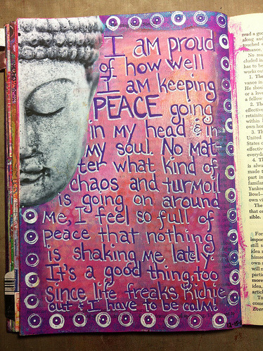 artjournaling:  My peace. (by Barb ☮)