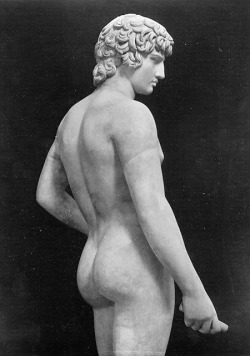 Sculpture of Antinous, marble, first half of 2nd century CE