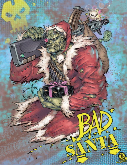 boocook:  my entry for the 2000AD message board advent calendar…have a zarjaz christmas earthlets!  And from Pete Wells on the advent calendar:  The amazing Boo Cook almost melted my monitor with this beautiful Kano Claus - Bad Santa, ha!