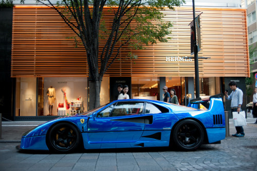 carpr0n:  Into the blue Starring: Ferrari F40 (via autoblog.it)