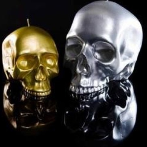 DL & Co Gold and Silver Skull Candles