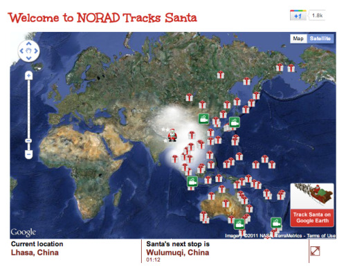 Track Santa around the world with Google Maps.