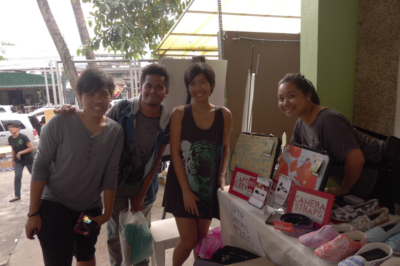 "#Sendong fund-raising bazaar last FRI, Dec. 23 :) So yeah, this is what I've been up to this Christmas eve.Writing this blog post for Punchdrunk Panda's Tumblr. :P It felt like a rather Christmas-y thing to do.And typing it up keeps my hands away from the fork that continuously pokes into the whole cheesecake I had beside me (I have now safely tucked it into the freezer). I was looking forward to all the wonderfully useless things I would do come the Christmas vacation (Dec. 22 for PdP), but it was nice to have this fund-raiser so I could somehow dent the universe a little with some help for CDO. Christmas love, y'all. I've another short Christmas-y post coming up. :P punchdrunkpanda:  #Sendong fund-raising bazaar with @bloggers_united & @punchdrunkinc at @moonleafteashop last FRI, Dec. 23 :) * In the photo: Jonver (former PdP marketing intern/social media manager), Robbie (blogger/illustrator), Jen (Punchdrunk Panda mismo) & Nica (PdP's super sidekick) When we heard about Moonleaf's (Punchdrunk Panda's close ""brand friend"") relief drive for Sendong victims, we really wanted to do something to help as well.  We're not as über popular as Moonleaf, but we did our best to disseminate information to our social media networks about relief efforts for Sendong, but we felt it wasn't enough. On MON, we contacted Thysz, Moonleaf's fabulous marketing manager and shared our intention of having a fund-raising pop-up shop on WED (our last day of work, supposedly).  However, after further deliberation, we felt that Punchdrunk Panda alone might not be able to raise significant funds, and that it might be more beneficial and efficient for PdP team members to just contribute what we could, individually. But on WED, we were happy to find out that Bloggers United was going to round up some bloggers for a mini Bloggers United at Moonleaf that FRI, so with the combined pull, we decided to join in the effort. :)  We were set on selling older PdP designs at marked down prices (so that people would be more willing to spend), then we also gathered sellable clothing to help augment fund-raising sales.      All in all, our humble booth managed to raise almost 9k, and combined with sales by the other bloggers, Karl, Melai, Ana, Gellie, Angela, Je, we all managed to raise a total of 23k (if I'm not mistaken?)! :D It's amazing what we can achieve when we band together for a cause.We certainly hope things will be better for all our kababayans in Northern Mindanao, and that somehow, in spite of their loss, they still feel the love pouring in from strangers out to help. * Awesome photos c/o Jaja Ferrer of When Eyes Shoot* PdP Team photo c/o Jen's camera, shot by I forgot who* PdP shoes on the table photo c/o Arnie Villanueva of Raid My Closet Happy Christmas, everyone! Roasting chestnuts on an open fire (in my head),Jen"