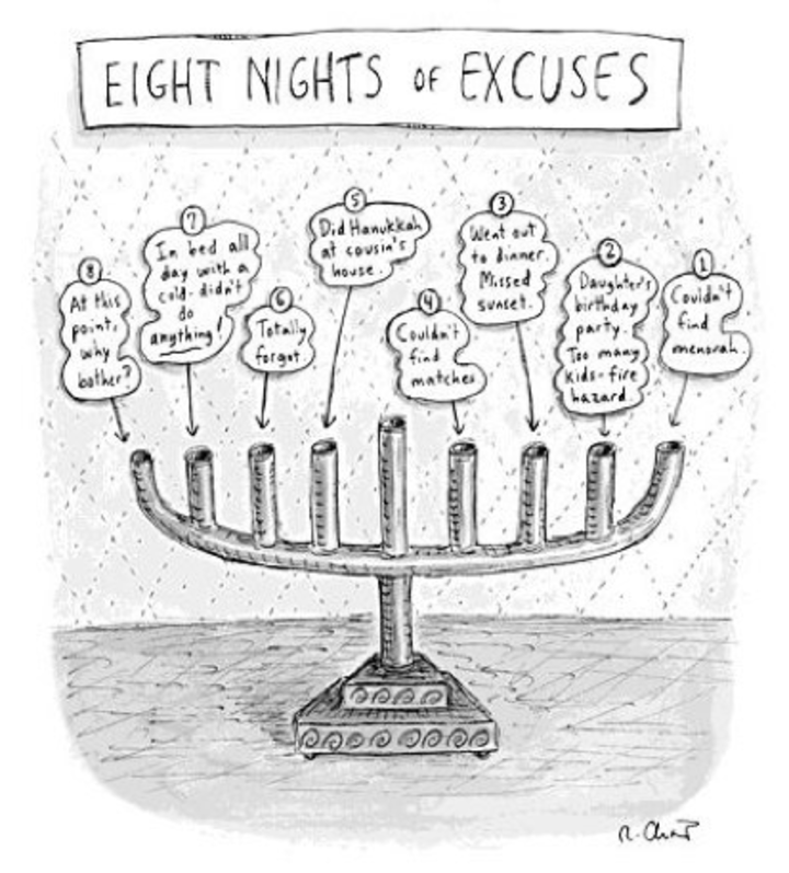 Eight Nights of Excuses by Roz Chaz