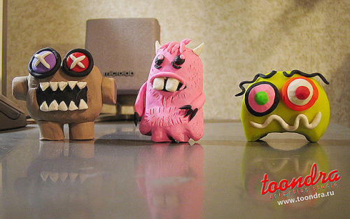 kawaii-plasticine-monsters on Flickr.
