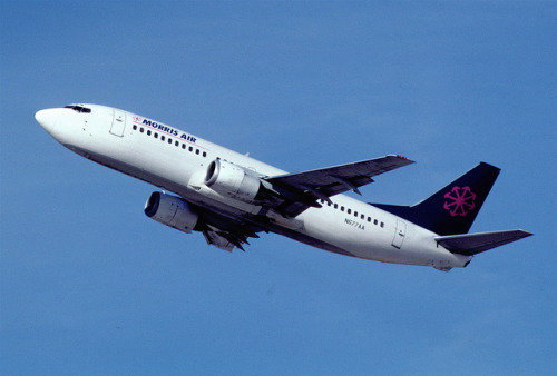 Morris Air Boeing 737-3A4; N677AA, March 1994/ BUW by Aero Icarus on Flickr.Morris Air's fleet of 737-300s were just the right fit for Southwest, who themselves made it a point to operate nothing but the popular Boeing twin.