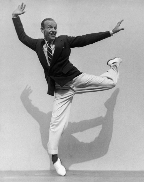 "andrewromano:  Fred Astaire's rules of style, distilled from an August 1957 interview with GQ. Fashions may change, but this stuff doesn't (or shouldn't):   He always has suits custom-tailored… ""I usually take my suits back to the shop at least half a dozen times—too much shoulder or too loose or too tight. What I dislike is wearing a lot of material."" He believes that his measure of male dress is basically British. ""You have to give them credit. They have been very stable in their designing and tailoring. They hardly ever change."" ""I can't comprehend red evening ties or fluffy shirt fronts or that sort of thing."" In suitings, he prefers the sober colors such as dark blue, dark gray, and dark brown—""the only light color I like is light gray."" ""The coat should be just long enough to cover the rear,"" he states. ""The way most of them are today, they nearly reach the knees."" On tailoring, he feels that all coats should have the British side-vents—""quite deep, about seven inches.""  He favors two-button jackets, although he used to be an addict of three-buttoners at the age of 20. ""I only button one,"" he says, ""and I think it looks better that way."" His trousers are cuffed and inclined to be a little shorter than most—""I don't want them slopping over onto my shoes."" Except for full dress, he likes a soft shirt front, and light colors in the pink, blue, and tan range. ""Once in a long while I'll buy a striped shirt,"" he adds. He prefers a well-made buttoned cuff to French cuffs. In fact he never uses cufflinks except for formal dress… His daily jewelry is severely limited to a single gold-seal ring and the simplest tie accessories. He likes a full tie, not the narrow ones. ""I always like to use the Windsor knot,"" he says… He points out that thinness seems to destroy an essential quality of dress, its style, by misuse in ties or lapels. As for the collars, he dislikes the tab and prefers the button-down and the wide-spread collar— braced by stays. In his own ties, he prefers a dark color and a very small pattern. He has only a couple of striped ties, emblematic of the clubs to which he belongs. In the shoe department, Astaire possesses… more than 20 pairs… ""It's really very economical to have that many,"" he asserts. ""I have shoes today that are as good as when I bought them 20 years ago—and I assure you I have worn them many times."" … All his shoes are custom-made in London. As for style and color, he prefers suede as a material and the loafer design. Most of his shoes, exclusive of the formal ones, are dark brown. [In hats,] he likes low crowns and fairly narrow brims (about 2 1/8 inches because ""an eighth of an inch can make a lot of difference in a brim""). The hat band should be of normal width—""no wide ones, no high crowns, no wide brims."" He wears them with an ordinary crease and abhors such developments as porkpies. Handkerchiefs should be flipped out and folded into the pocket with an appearance of casualness, Astaire thinks. He does not like the square or folded style, nor the puff type that he describes ""like a range of the Andes."" In his socks, Astaire allows himself a little leeway. He likes wool in preference to silk and cotton… He is not too taken with synthetic fabrics of any kind. He is fond of some sort of pattern on his socks, based on a subdued background. He dislikes shorts of any kind in public. He is very fond of cardigan sweaters of all types. His own preference for wear would be the ageless, conservative suiting, fabric, and color, complemented with shirt and tie each in its own distinctive small pattern or low-keyed color. The Astaire creed of dress is: ""Be yourself—but don't be conspicuous."""