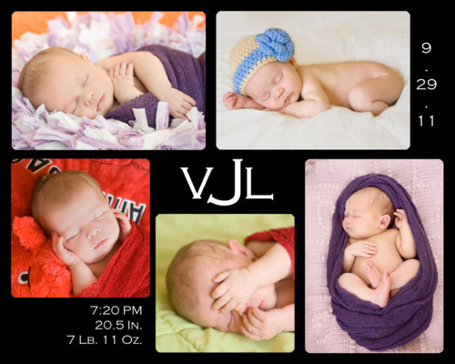 RTC PhotoWork Vivianna 8  Days Old Origins Newborn Session in Fort Worth Collage Storyboard