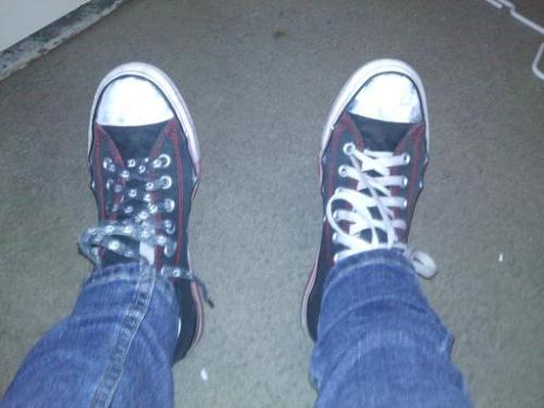 I found my shoes from like 6th grade I thought I was emo as fuck haha They still fit perfectly though .___.