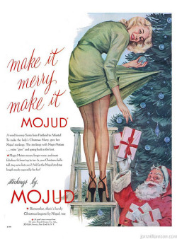 Mojud stockings. 1951 Merry Xmas everyone!! :D