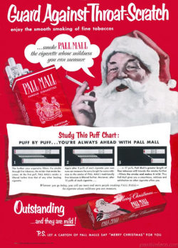 "Let a carton of Pall Mall say ""Merry Christmas"" for you"