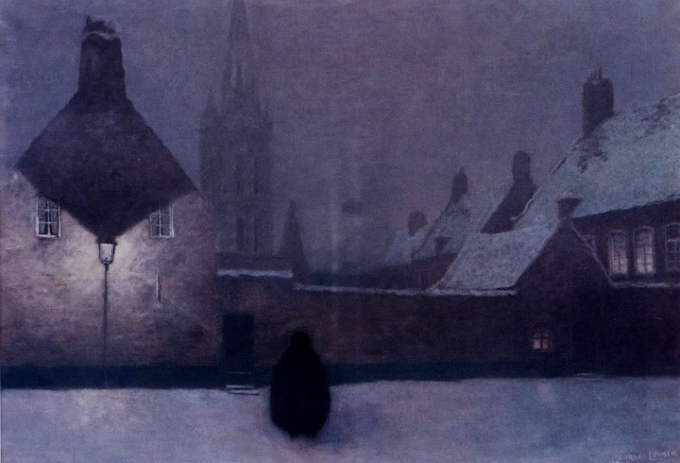Georges Lemmen, Snowy Evening (1910). With thanks to themetropolitanline.