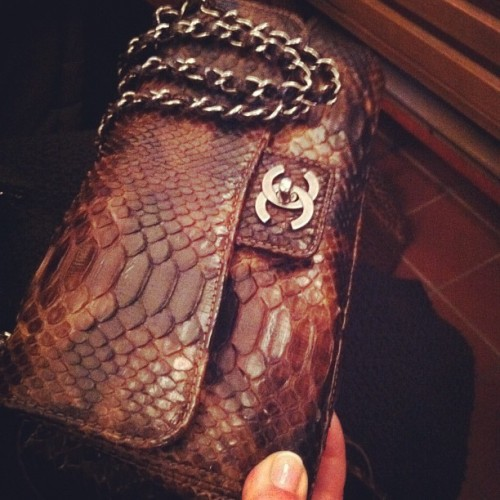 My mom wanted in on the action…her python Chanel.  (Taken with instagram)