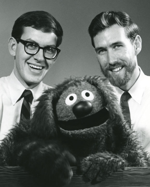 hensonthings:  Frank Oz and Jim Henson with Rowlf The Dog.