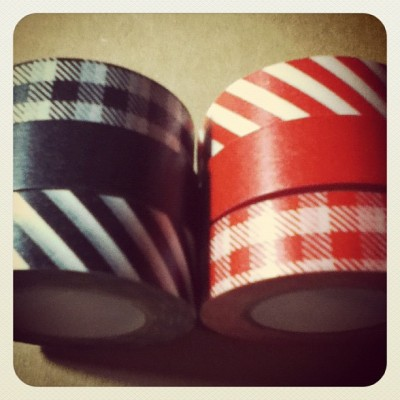 Felicitat! Més per la meva col•lecció! #christmas #present #black #red #washitape #happy (Taken with instagram)